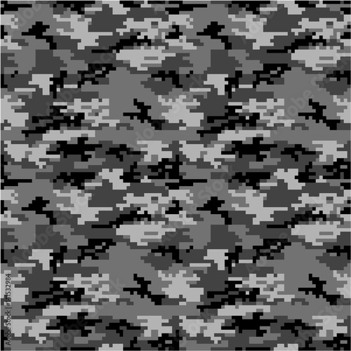 Fotografía  Army or Military Special Forces Digital Camouflage Seamless Vector Pattern or Se
