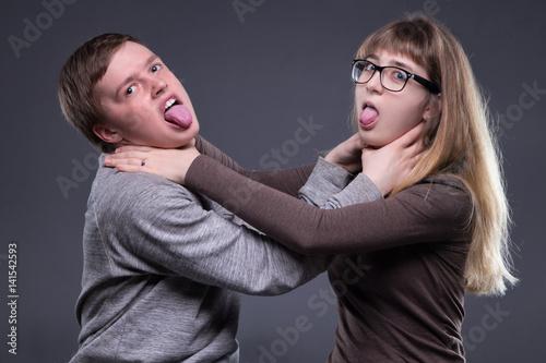 Fototapeta  Relationship of teenage couple