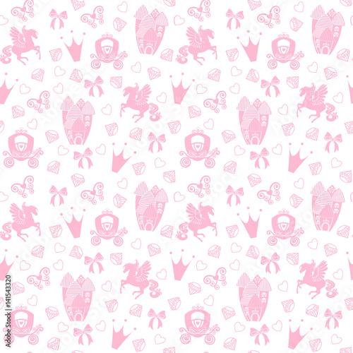 princess-bezszwowy-wzor-dla-tkaniny-z