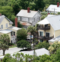 A View Of The Residential Houses In Tybee Island From The Lighthouse.