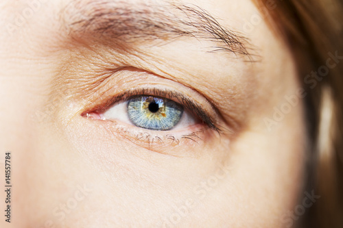 Obraz A beautiful insightful look woman's eye. Close up shot - fototapety do salonu