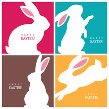Four Creative Design Concepts With Easter Bunnies