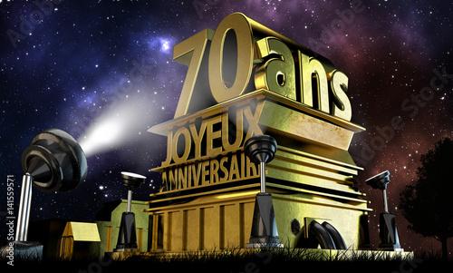 Fototapeta  70 ans joyeux anniversaire