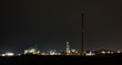 Chemical refinery at night