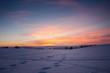 Sonnenuntergang im Erzgebirge Winter