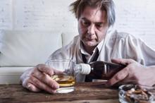 Depressed Alcoholic Businessma...