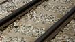 Narrow railroad track of the european standard width