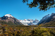 The Patagonian landscape at El Chalten, Argentina, on the way to Laguna Torre