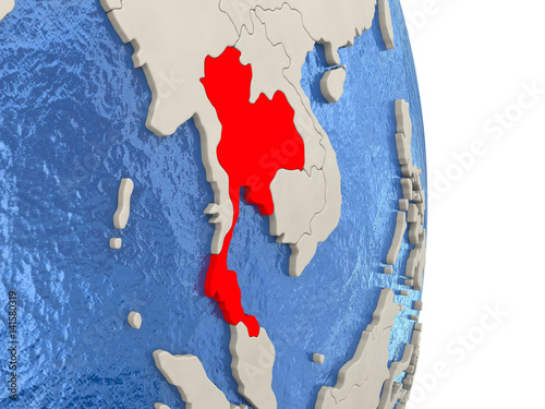 Printed kitchen splashbacks Fairytale World Thailand on model of political globe