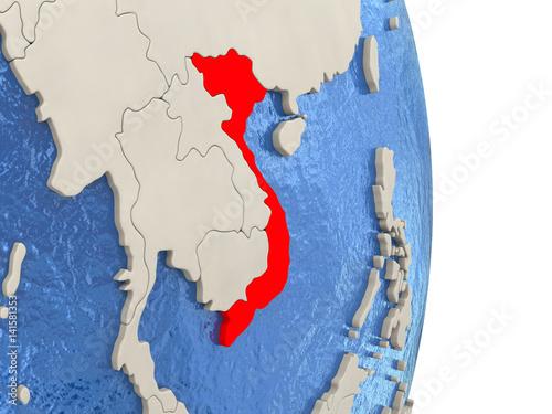 Printed kitchen splashbacks Fairytale World Vietnam on model of political globe