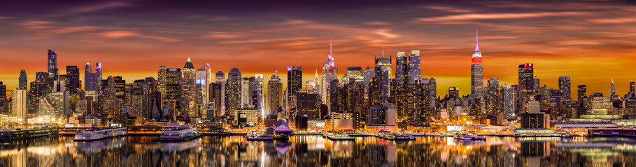 New York City panorama at s...
