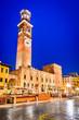 canvas print picture - Verona, Italy - Torre dei Lamberti