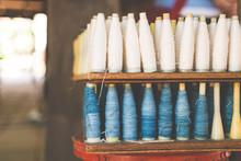 Indigo Dyed Thread Spools