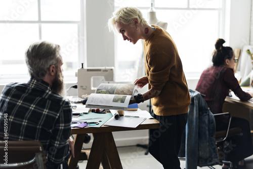 Fototapety, obrazy: Fashion Design Research Magazine Concept