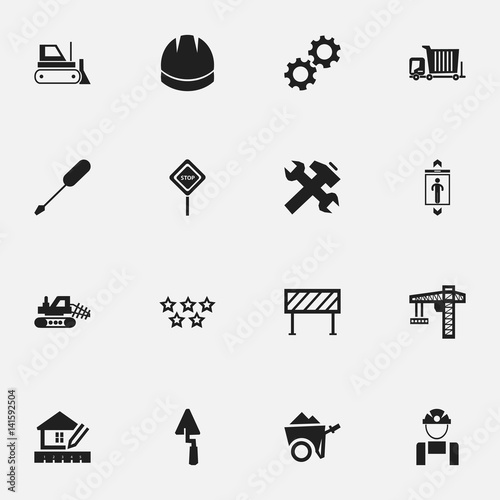 Set Of 16 Editable Structure Icons  Includes Symbols Such As