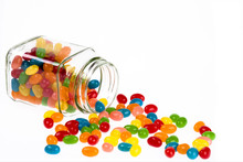 Jelly Beans Candy Spilled From...
