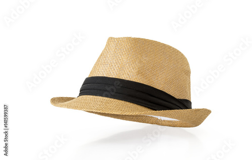 Fotografía  Straw hat isolated on white background