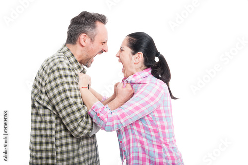 Photo Couple having a screaming fight