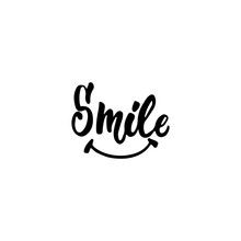 Smile - Hand Drawn Lettering P...