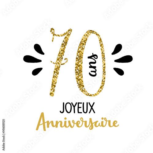 carte d anniversaire 70 ans Carte JOYEUX ANNIVERSAIRE – 70 ANS   Buy this stock vector and