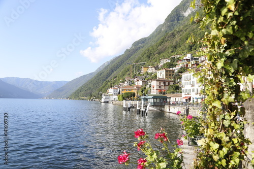 Photo Argegno, Italy. Located on the Como Lake in Lombardy. North Italy