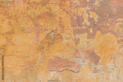 Wall Murals Old dirty textured wall Orange old wall