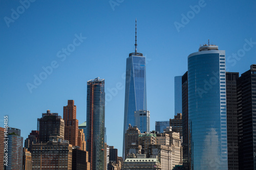 Skyline of Manhattan as Seen from the Staten Island Ferry, USA