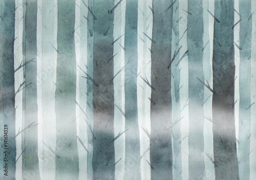 mglisty-las-w-nocy-ilustracja-akwarela-ponury