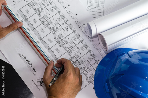 Engineering diagram blueprint paper drafting project sketch engineering diagram blueprint paper drafting project sketch architecturalselective focus malvernweather Image collections