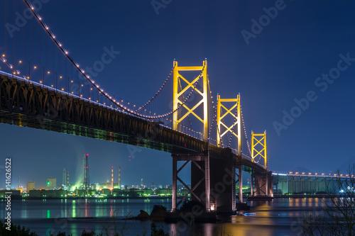 Foto op Plexiglas Panoramafoto s 瀬戸大橋の夜景