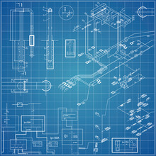 Vector Blueprint With Electrical