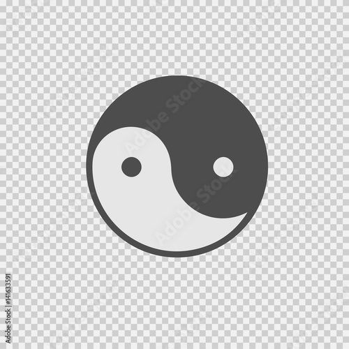 Ying yang symbol vector icon Canvas Print