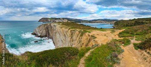 Poster Cote Summer ocean bay coastline (Spain).