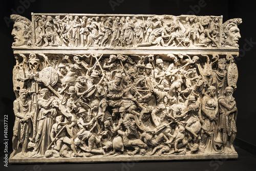Obraz na plátně The Portonaccio sarcophagus in Rome, Italy