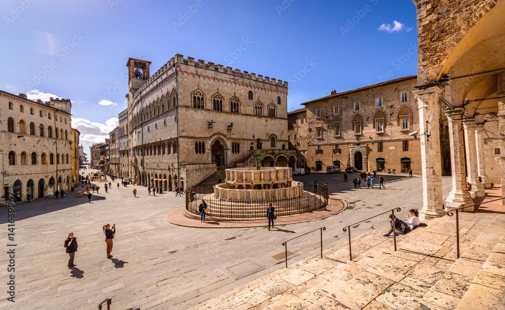 Fototapety, obrazy: Piazza IV Novembre Perugia