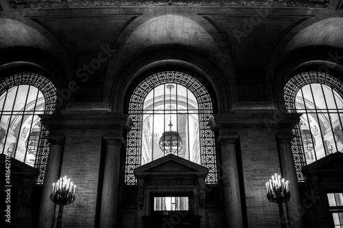 Inside New York Library in Manhattan, USA