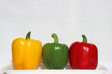 Three Peppers: Yellow, Green, Red