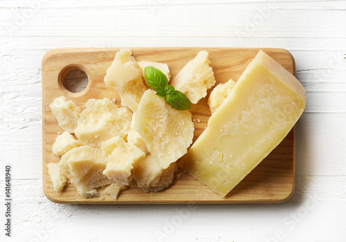 Fotografie, Obraz  Cutting board of parmesan cheese