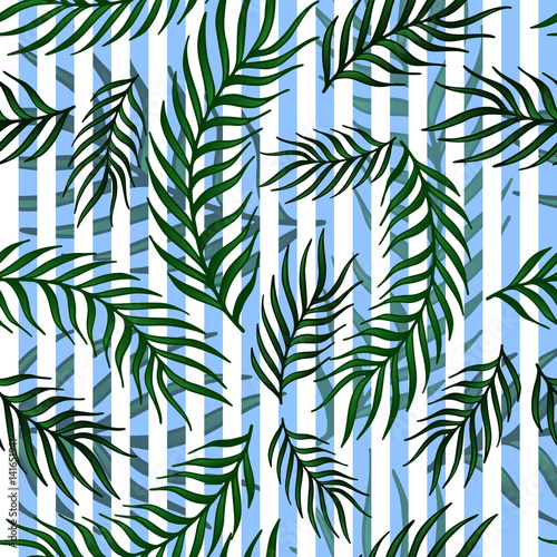Ingelijste posters Tropische Bladeren Seamless exotic pattern with palm leaves .