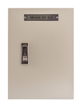 Electric Control Box On White Background