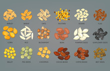 Food Seeds And Grains, Beans O...