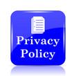 Leinwanddruck Bild - Privacy policy icon