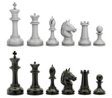 Black And White Chess Figures ...