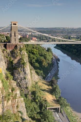 Poster Bridges Clifton suspension bridge (pont suspendu de Bristol)