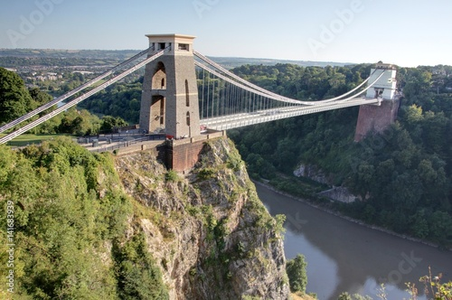 Clifton suspension bridge (pont suspendu de Bristol) Canvas Print