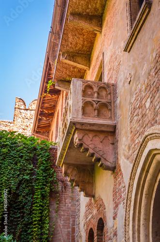 Fotografie, Obraz  Balcony by Juliet house in Verona, Veneto region, Italy.