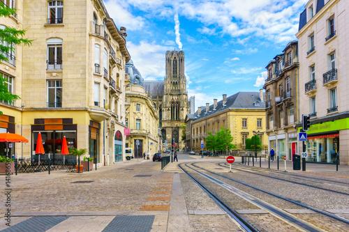 Architecture of Reims, a city in the Champagne-Ardenne region of France Tapéta, Fotótapéta