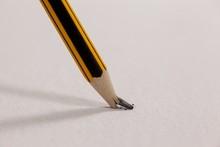 Broken Pencil On White Backgro...