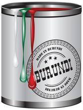 Paint Corresponding To The Flag Of Burundi