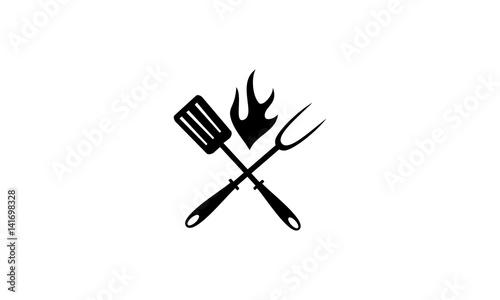 Fotomural  Logo Restaurant barbeques